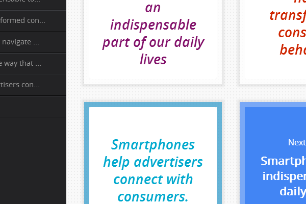 Click on 'Smartphones help advertisers connect with consumers.'